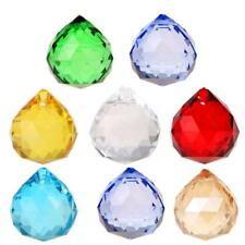 10pcs K9 Crystal Chandelier Ball Prism Ceiling Lamp Pendulum Decor Pendants 30mm
