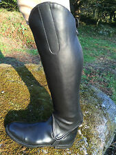 NEW EQUI-LEATHER HORSE RIDING HALF CHAPS/GAITERS BLACK