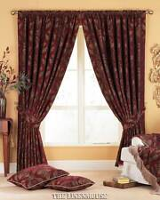 OPULENT CURTAINS HEAVY WEIGHT CHENILLE TAPETOP HEADING.3 SIZES.NEXT DAY DELIVERY