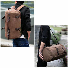 Vintage Mens Canvas Travel Camping Hiking Backpack Rucksack school Satchel Bag