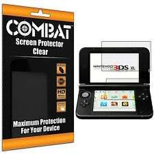 6X COMBAT HD Screen Protector Top Bottom Cover Shields for Nintendo 3DS XL