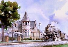 Southern Railway 630 Steam Locomotive at Fort Payne AL Depot Railroad Notecards