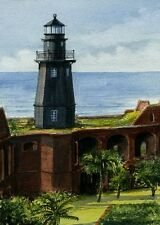 Tortugas Harbor Lighthouse Garden Key Dry Tortugas Florida Matted Art Prints