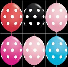 25 Qualatex Polka Dots Print Quicklink Linking Link O Loon Balloons Arch  Party