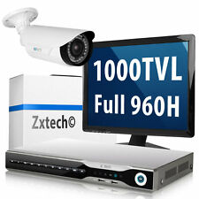 1 x 1000 TVL Sony CMOS Camera 8CH HDMI Recorder H.264 Cloud CCTV Complete System