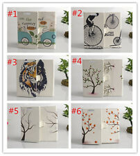 Flower Magnetic wallet PU Leather stand cover case for LG OPTIMUS L90 #4
