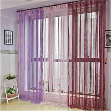 High Quality Silver Silk String Curtain Living Room/Door Partition Sheer Curtain