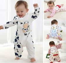 New Hot Baby Girls Boys Toddlers Romper Coverall Clothes Cotton Size 0-12 Months