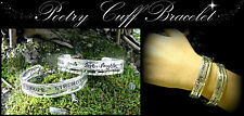 ~AFFIRMATION POETRY WORD CUFF BRACELET~Silver~Hope~Love~Courage~Faith~Inspire~