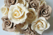 Sugar Roses Various Colors Edible Cake Cupcake Toppers Birthday Wedding