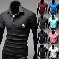 New Men Stylish Slim Fit POLO Shirts Short Sleeve Casual T-shirt Tee Shirt Tops