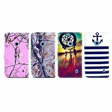 4 Style Choice Branch Wallet Card Slot PU Leather Case for Nokia Lumia N520 520