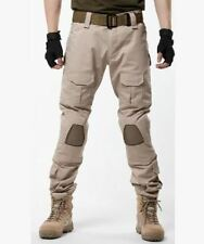 Men's Casual Army Knee Pad Military Motorbike Trousers Overall Camo Combat Pants