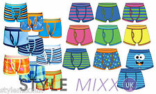 Boys 3 Pack Neon Plain Boxers Underwear Pants Cotton Shorts  Trunks 2-13 Yrs New