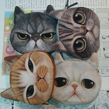 HOT Children Cute Cat Face Zipper Case Coin Kids Purse Wallet Makeup Bag Pouch