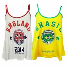 New Ladies England & Brasil Soccer World Competition Swing Vests 4-10