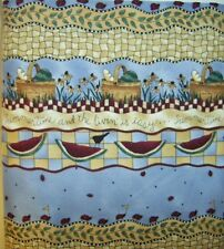 New 100% Cotton Fabric Debbbie Mumm Quilt Sewing Material Baskets Flowers Per Yd