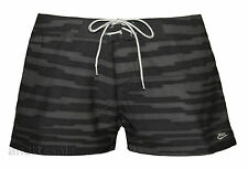 NIKE BNWT Printed Ladies Swim/Board/Beach Shorts Grey/Black Sizes XS,S,M,L