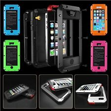 ALUMINUM GORILLA GLASS METAL COVER CASE FOR iPHONE 4/5/5C/5S/6/6PLUS SHOCKPROOF*