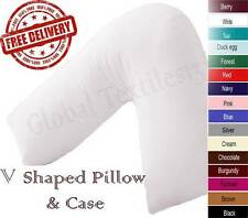 V SHAPED PILLOW & FREE COVER, MATERNITY PREGNANCY NURSING BABY SUPPORT, V PILLOW