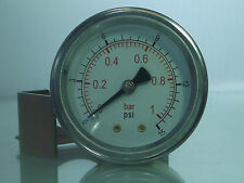 "Panel Mounted Air Pressure Gauges 40 & 50mm 1.1/2"" and 2"" c/w Bracket"