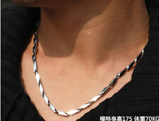 "316L Men's Stainless Steel Necklace Titanium Necklace Chain 3mm-4mm 14""-30"" hot"