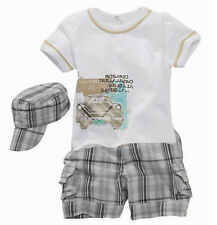 3pcs Baby Boy Kids Toddlers T-shirt Hat+Top+Pants Shorts Outfit Clothing Set