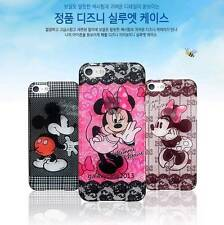 Mickey Minnie Transparent Lace Pattern Silhouette Hard PC Case For iPhone 5 5S