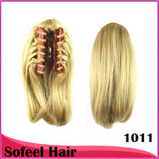 8 Colors Ponytail Hair Extensions Synthetic Hair Wavy Clip Ponytails