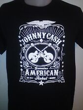 JOHNNY CASH GENUINE AMERICAN REBEL JACK DANIELS COUNTRY MUSIC T SHIRT BLACK