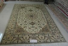 6' X 9'  Handmade Silk Wool Blend Persian Oriental Area Rug 256 KPSI Part 1