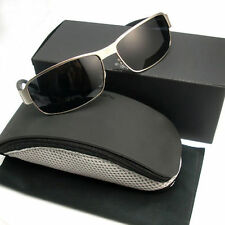 Black Silver Porsches Men's Women's Designer Polarizing Sunglasses Glasses P8485