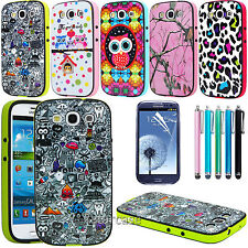 Hybrid Best Impact Dual Layer Case Cover For Samsung Galaxy S3 SIII 9300 Cartoon