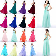 One Shoulder Sweetheart Chiffon Prom Dress Bridesmaid Evening Party Formal Dress