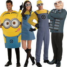 Adult Licensed Despicable Me Minion Gru Fancy Dress Costume Outfit Male Female