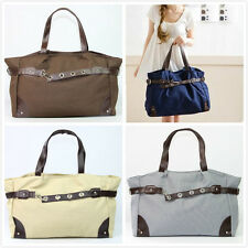 Women Lady Canvas Tote Satchel Shoulder Messenger Hobo Bag Handbag 4 Colors