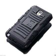 Black Rugged Hybrid Case Cover Belt Clip Holster For Samsung Galaxy S3 S4 NOTE 3