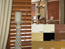 Wooden Venetian Blinds - 35mm & 50mm Made To Measure Wood Blinds 9 Colours