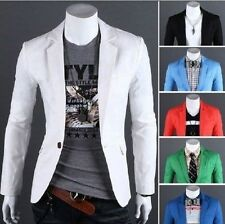 New Fashion Mens Slim Fit Casual One Button Suit Coat Jacket Blazers