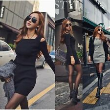Hot! High-quality Women Lady Sexy Cotton Slim Knitwear Sweater Dress Night Club