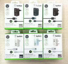 2.1A/10W Belkin EU/US dual USB home Wall charger adapter&8 pin Charger usb cable