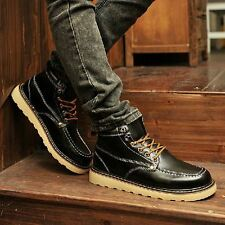 Fashion Mens Casual Sports Riding British Lace Up Sneakers High-top Ankle Boots