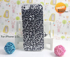 Printed Pattern Soft TPU Gel Case+screen protector for iPhone 5 5s