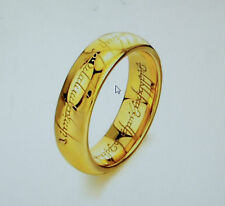 Lord of the ring LOTR gold plated titanium ring