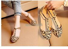 HOT SALE Summer Fashion Women's Sandals Shoes Leopard Flat Heel US 6,7,8 EP98