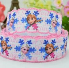 Diy 22mm FROZEN Printed Grosgrain Ribbon 10/50/100 Yds Hairbow Sister 026