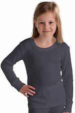 OCTAVE® Girls Warm Thermal Underwear Long Sleeve Kids Top Childrens Baselayer