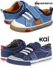 NEW See Kai Run CORBIN / BRYCE Blue Canvas Sneakers Baby & Toddler Boy Shoes