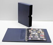 VARIO Blue 3 Ring Binder w 20 Seven Pocket Pages for Stamp Collecting and Other