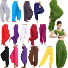 Women Harem Genie Yoga Pants Aladdin Hippie Baggy Jumpsuit Trousers Dance Hippy